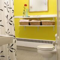 Gele handdoeken voor de badkamer