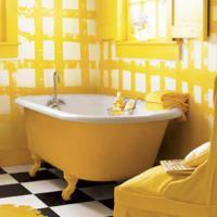 geel badkamer sanitair
