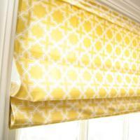 gele pliss gordijnen